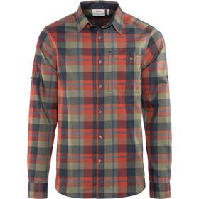 Fjällräven Fjällglim - Camiseta de manga larga Hombre - rojo/Multicolor